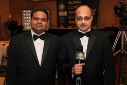 Mr. Amit Bohora and Mr. Ajay Bohora Organizers of the event, Global Corporate Awards‏